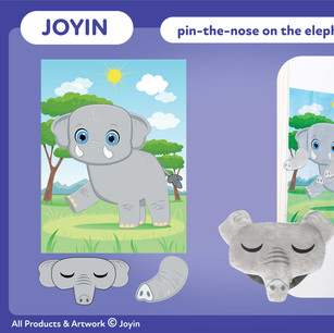 Joyin Pin-The-Nose on the Elephant Party Game
