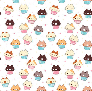 Cupcake Cats Pattern