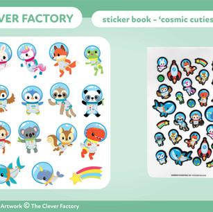 TCF - Sticker Book - Space theme