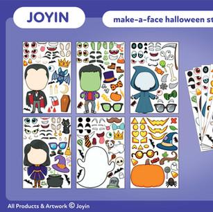 Joyin Make-A-Face Halloween Stickers