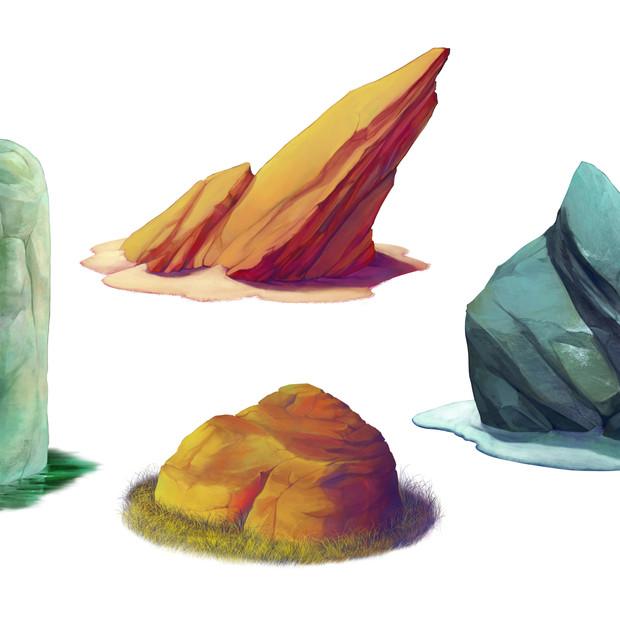 Rock asset painting