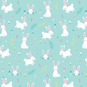 Forest Rabbit Pattern