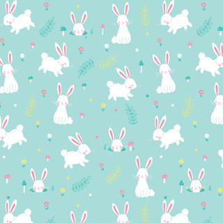 Forest Rabbit Pattern