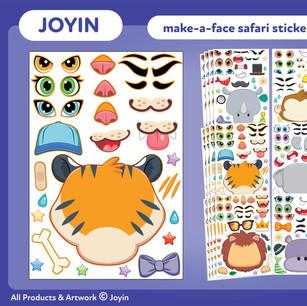 Joyin Make-A-Face Safari Stickers