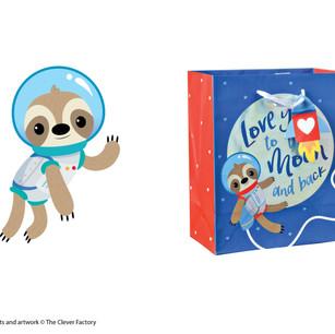 Sloth Valentine's Day Gift Bag