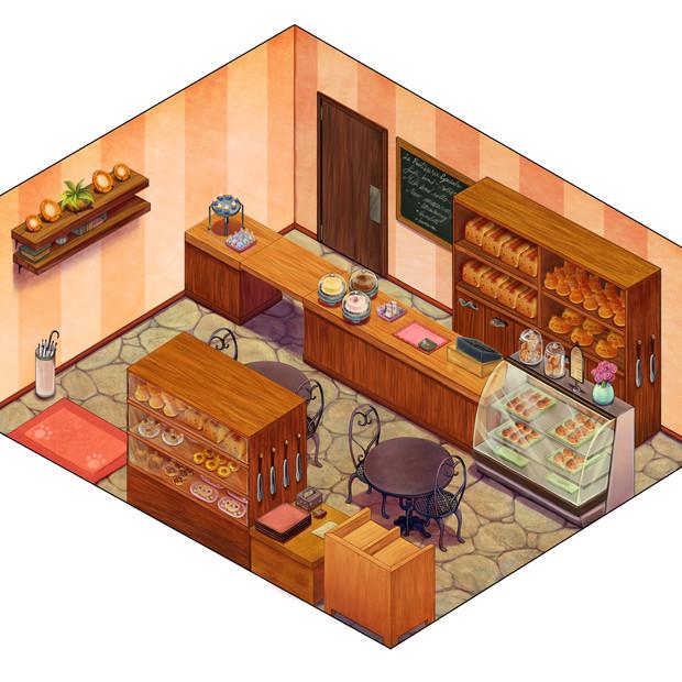 Cat Bakery Isometric