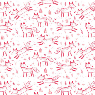 Rosy Foxes Pattern