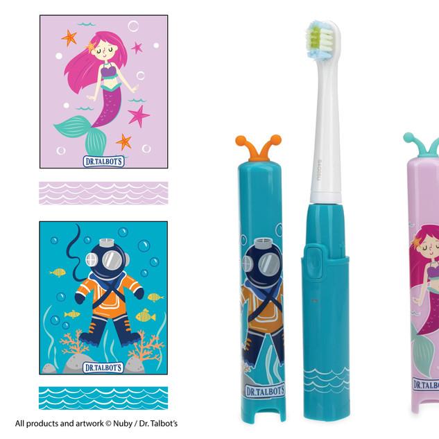 Sonic Toothbrush Illustration