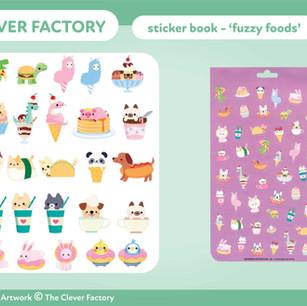 TCF - Sticker Book - Animal Food Theme