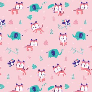 Pink Jungle Pattern