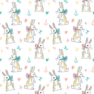 Delicate Rabbit Pattern