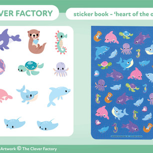 TCF - Sticker Book - Ocean Theme