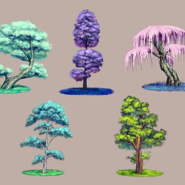 Tree Asset Painting