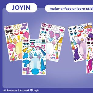Joyin Make-A-Face Unicorn Stickers