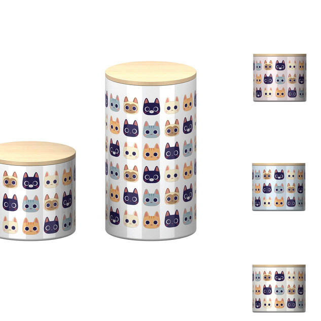 Cat Pattern on Cannisters