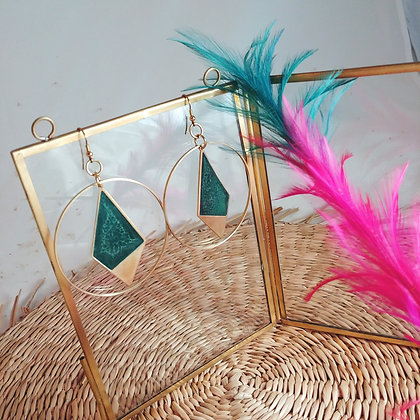 Collection Iris: Boucles d'oreilles Gloria
