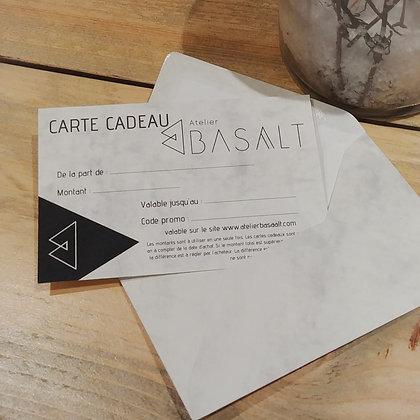 La carte cadeau Atelier Basaalt de 25€
