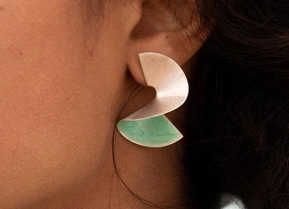 Taro: boucles d'oreilles (argent 925)