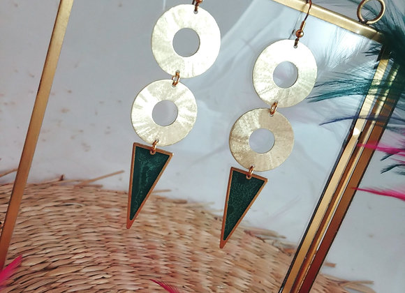 Collection Iris: Boucles d'oreilles Angela