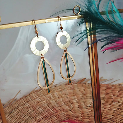 Collection Iris: Boucles d'oreilles Tessie