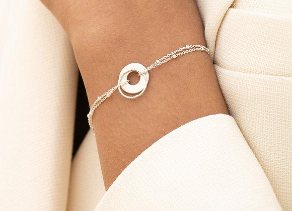 Pango: bracelet double (argent 925)