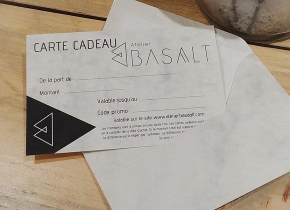La carte cadeau Atelier Basaalt de 75€