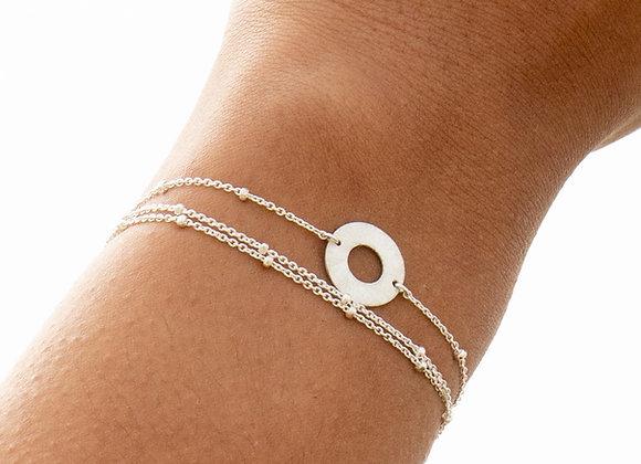 Sola: bracelet triple (argent 925)