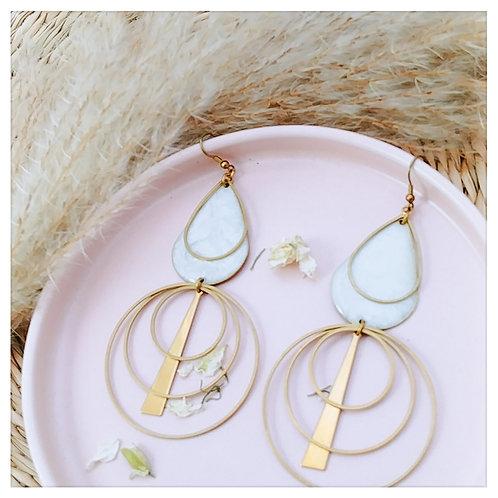 Collection White: Boucles d'oreilles