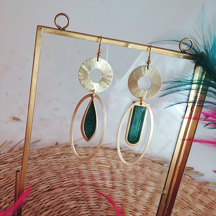 Collection Iris: Boucles d'oreilles Polly