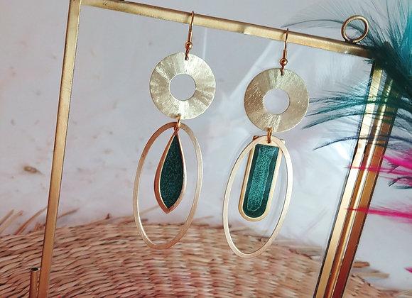 Collection Iris: Boucles d'oreilles Polly