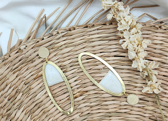 Collection White: Boucles d'oreilles