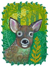 Deer and fern ©
