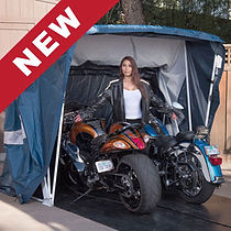 Speedway Motorsports Deluxe Shelter Motorcycle Cover Portable Snowmobile UTV ATV Two 2 Bikes