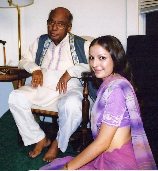 With Maestro Ali Akbar Khan