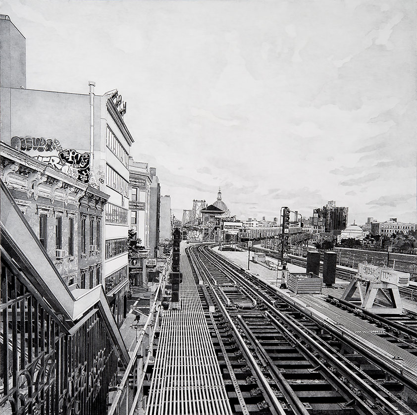 BK, Charcoal and Graphite on Canvas,