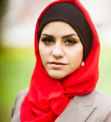 Muslim Woman with red hijab.png