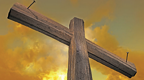Cross with nails and sunset.png