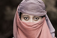 Muslim Young lady with head covering__Un
