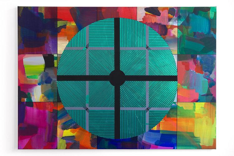 RAINBOW GONG, 2020, Acrylic, vinyl and p