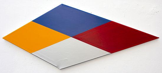 Crossover, 2018, 50x110x3.5 cm, Acrylic