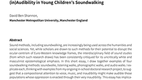 'What could be feminist about sound studies?': (in)Audibility in young children's soundwalking.