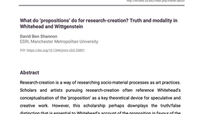 What do 'propositions' do for research-creation? Truth and modality in Whitehead and Wittgenstein