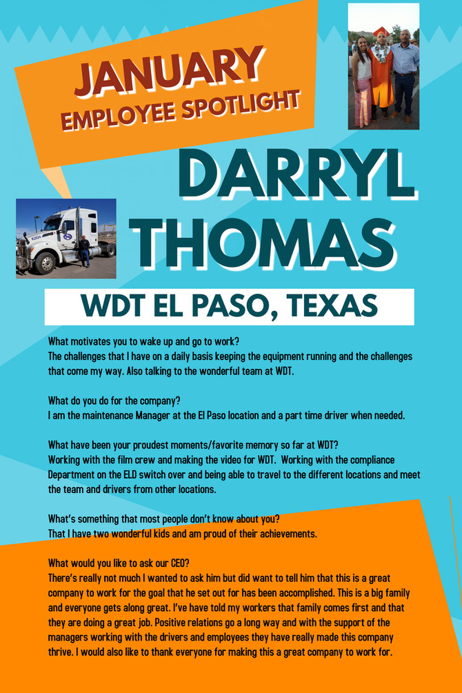 Employee Spotlight - Darryl Thomas
