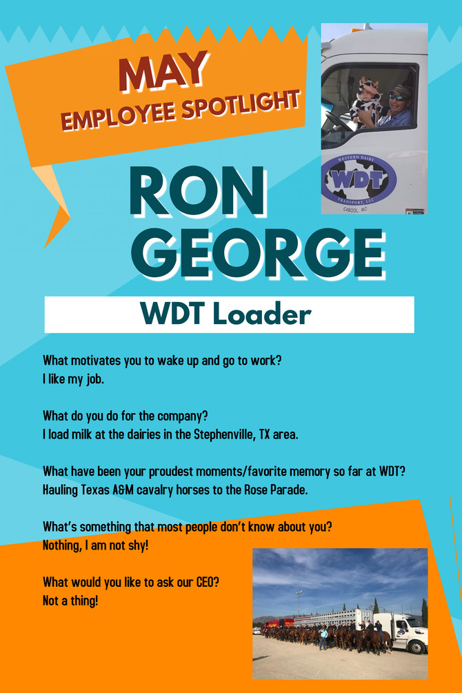 May Employee Spotlight - Ron George