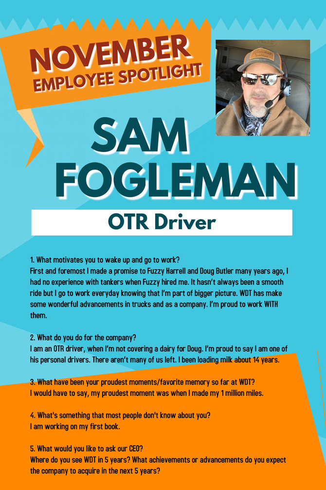November Employee Spotlight, Sam Fogleman