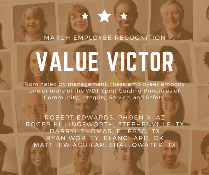 WDT March Employee Recognition