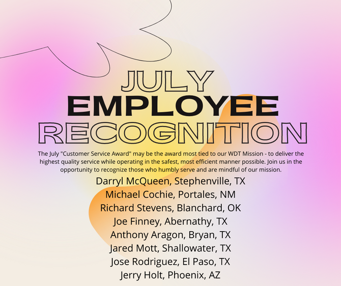 July Employee Recognition