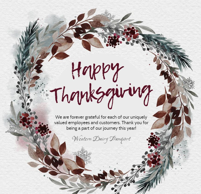 Happy Thanksgiving from WDT