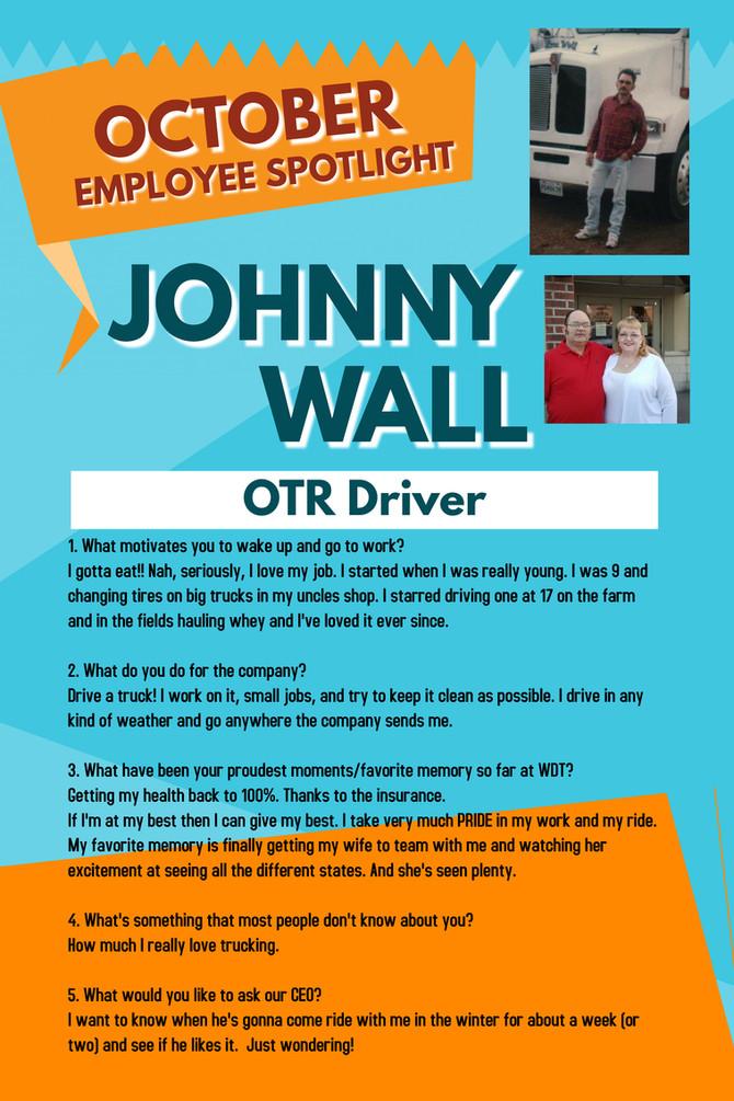 October Employee Spotlight, Johnny Wall