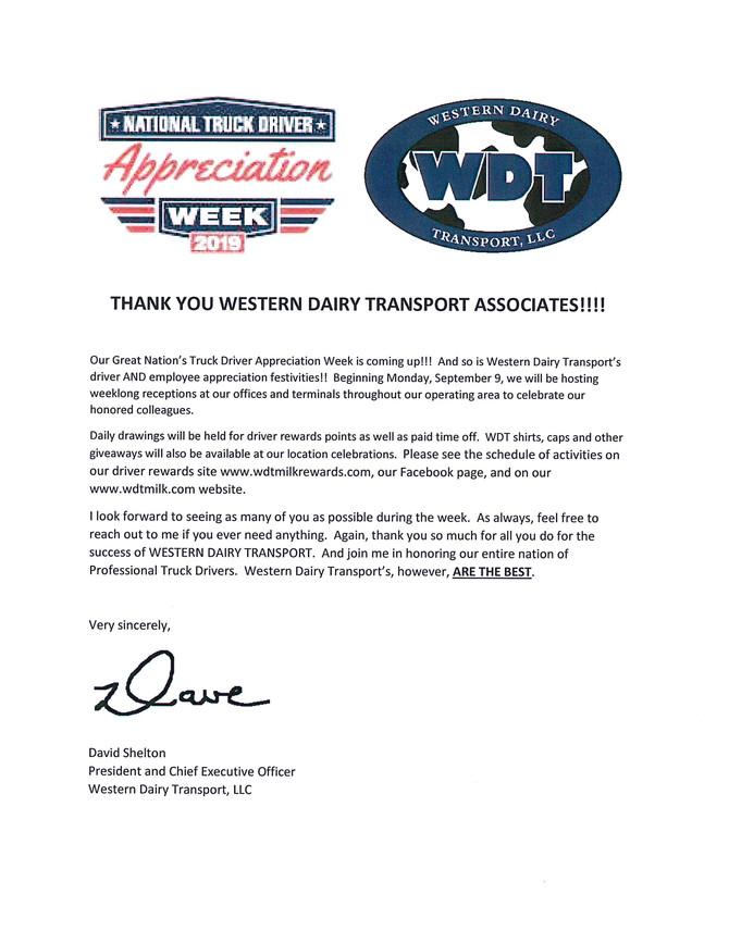 Truck Driver Appreciation Week 2019